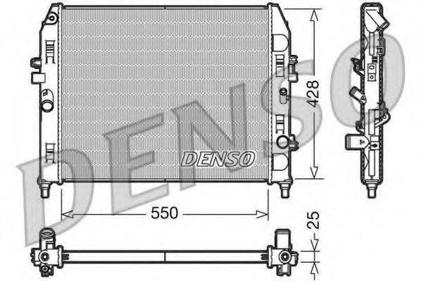 Радиатор, охлаждение двигателя DENSO DRM44008