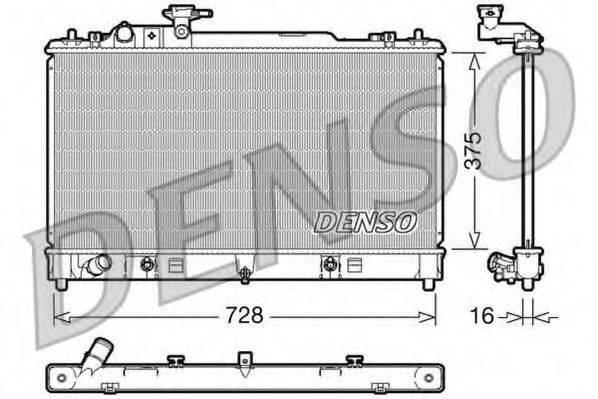 Радиатор, охлаждение двигателя DENSO DRM44021