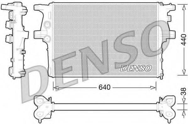 Радиатор, охлаждение двигателя DENSO DRM12008