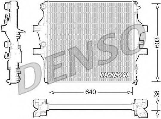 Радиатор, охлаждение двигателя DENSO DRM12009