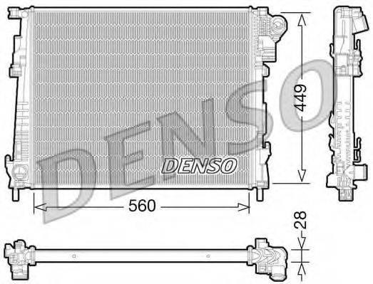 Радиатор, охлаждение двигателя DENSO DRM23094