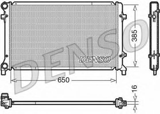 Радиатор, охлаждение двигателя DENSO DRM02014