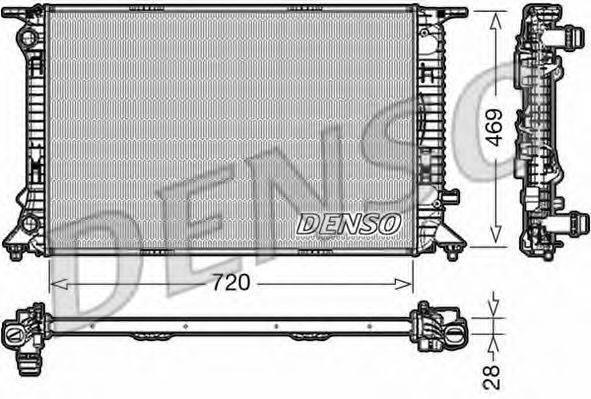 Радиатор, охлаждение двигателя DENSO DRM02022