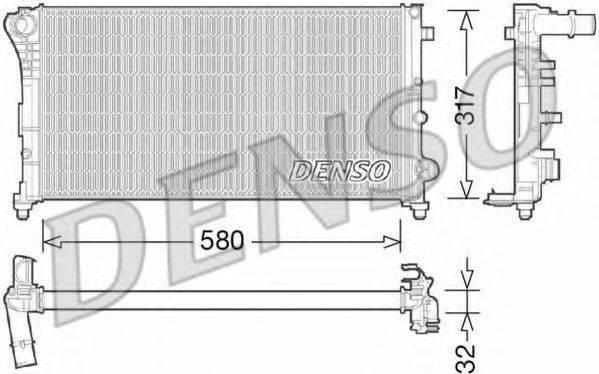 Радиатор, охлаждение двигателя DENSO DRM09089