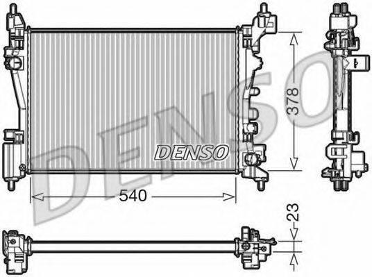 Радиатор, охлаждение двигателя DENSO DRM20046