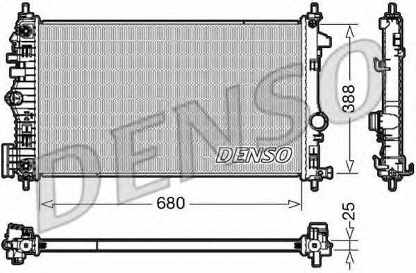 Радиатор, охлаждение двигателя DENSO DRM20108