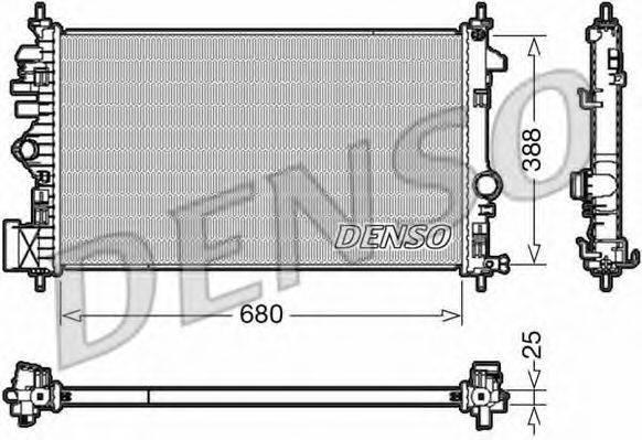 Радиатор, охлаждение двигателя DENSO DRM20109