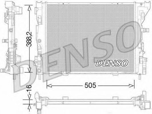 Радиатор, охлаждение двигателя DENSO DRM23035
