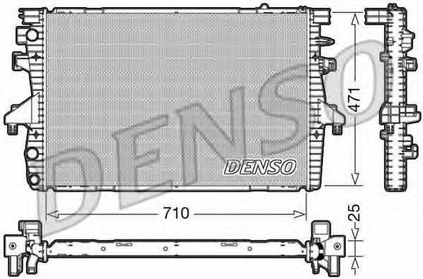 Радиатор, охлаждение двигателя DENSO DRM32039