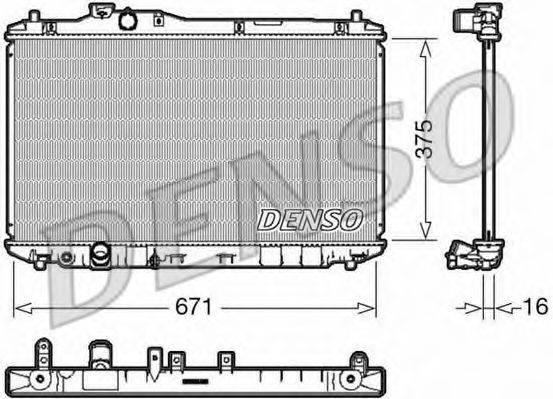 Радиатор, охлаждение двигателя DENSO DRM40037