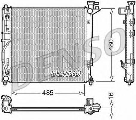 Радиатор, охлаждение двигателя DENSO DRM41007