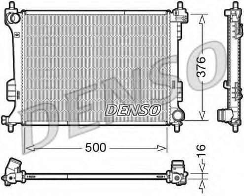 Радиатор, охлаждение двигателя DENSO DRM41010