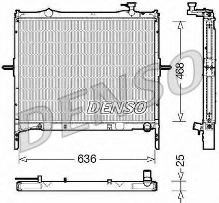 Радиатор, охлаждение двигателя DENSO DRM43001