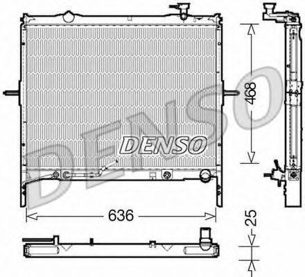 Радиатор, охлаждение двигателя DENSO DRM43002