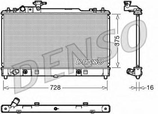 Радиатор, охлаждение двигателя DENSO DRM44029