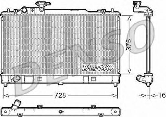 Радиатор, охлаждение двигателя DENSO DRM44033