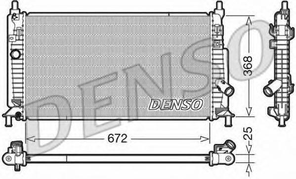 Радиатор, охлаждение двигателя DENSO DRM44034