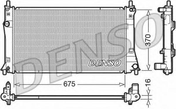 Радиатор, охлаждение двигателя DENSO DRM44035