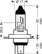OSRAM 64193CBLHCB Лампа накаливания, фара дальнего света; Лампа накаливания, основная фара; Лампа накаливания, противотуманная фара; Лампа накаливания, основная фара; Лампа накаливания, фара дальнего света; Лампа накаливания, противотуманная фара