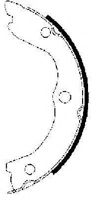 MINTEX MFR558 Комплект тормозных колодок, стояночная тормозная система