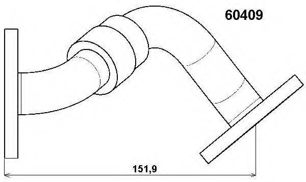 Трубка, клапан возврата ОГ WAHLER 60409D