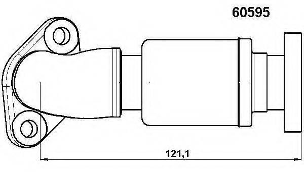 Трубка, клапан возврата ОГ WAHLER 60595D
