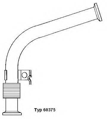 Трубка, клапан возврата ОГ WAHLER 60375D