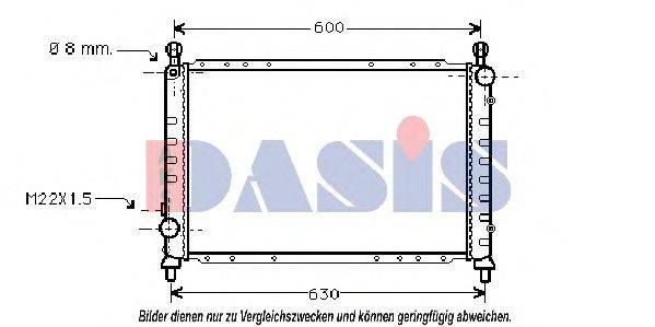 AKS DASIS 010009N Радиатор, охлаждение двигателя