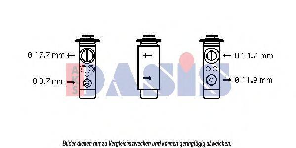 AKS DASIS 840002N Расширительный клапан, кондиционер