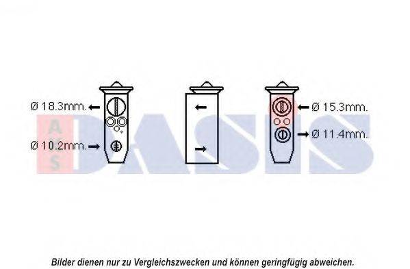 AKS DASIS 840191N Расширительный клапан, кондиционер