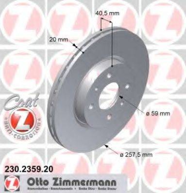 ZIMMERMANN 230235920 Тормозной диск