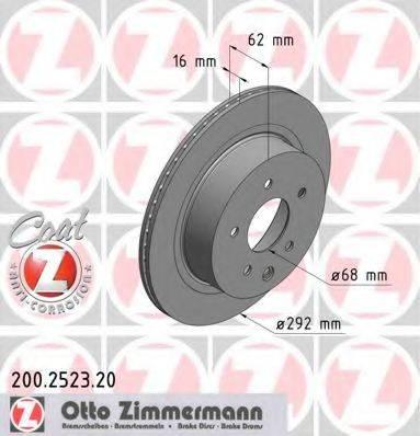 ZIMMERMANN 200252320 Тормозной диск