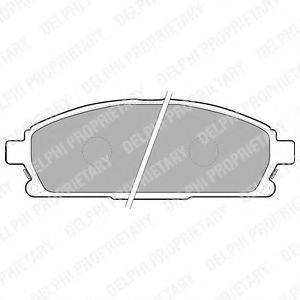 DELPHI LP1659 Комплект тормозных колодок, дисковый тормоз