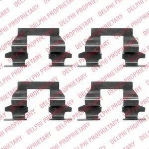 DELPHI LX0446 Комплектующие, колодки дискового тормоза