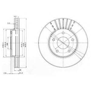 DELPHI BG3816 Тормозной диск