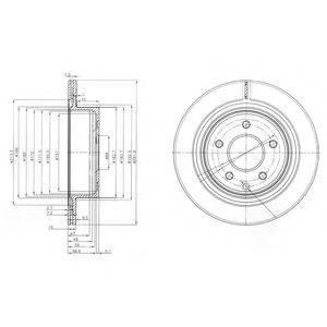 DELPHI BG3765C Тормозной диск