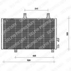 DELPHI TSP0225001 Конденсатор, кондиционер
