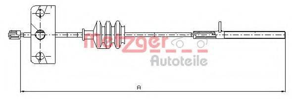 METZGER 165110 Трос, стояночная тормозная система