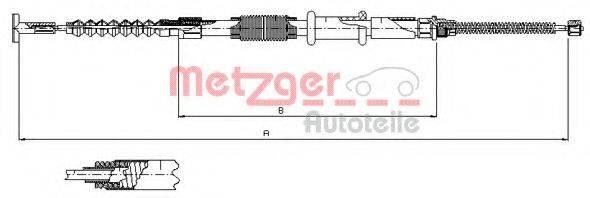 METZGER 2411 Трос, стояночная тормозная система