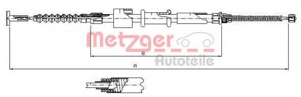 METZGER 2412 Трос, стояночная тормозная система