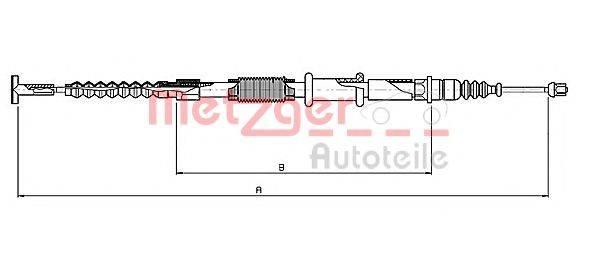 METZGER 165121 Трос, стояночная тормозная система