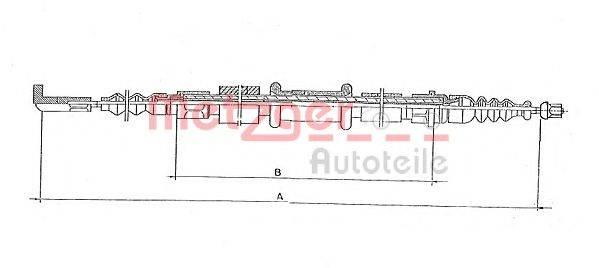 METZGER 25125 Трос, стояночная тормозная система
