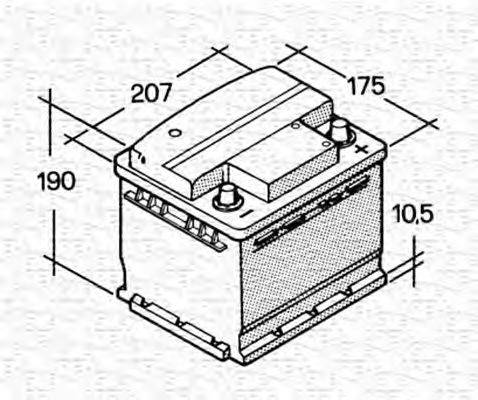 MAGNETI MARELLI 067143610003 Стартерная аккумуляторная батарея; Стартерная аккумуляторная батарея