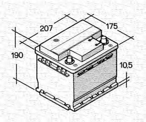 MAGNETI MARELLI 067143614003 Стартерная аккумуляторная батарея; Стартерная аккумуляторная батарея