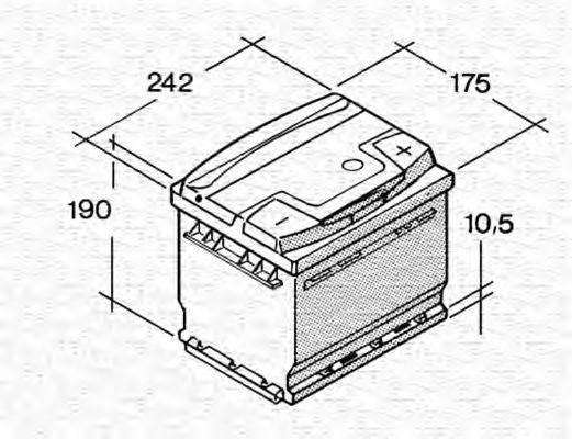 MAGNETI MARELLI 067143850005 Стартерная аккумуляторная батарея; Стартерная аккумуляторная батарея