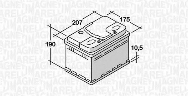 MAGNETI MARELLI 068050045010 Стартерная аккумуляторная батарея; Стартерная аккумуляторная батарея