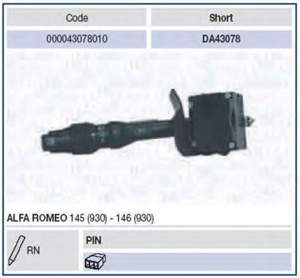 MAGNETI MARELLI 000043078010 Выключатель на колонке рулевого управления