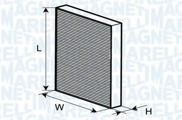 MAGNETI MARELLI 350203062400 Фильтр, воздух во внутренном пространстве