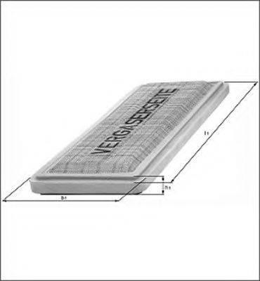 MAGNETI MARELLI 154086424150 Воздушный фильтр