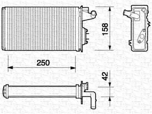MAGNETI MARELLI 350218052000 Теплообменник, отопление салона